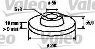 Тормозной диск VALEO 186849 - изображение