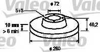 Тормозной диск VALEO 186851 - изображение