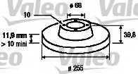 Тормозной диск VALEO 186856 - изображение