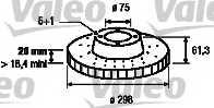 Тормозной диск VALEO 186860 - изображение
