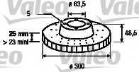 Тормозной диск VALEO 186863 - изображение