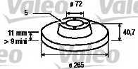 Тормозной диск VALEO 197021 - изображение