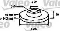 Тормозной диск VALEO 197023 - изображение