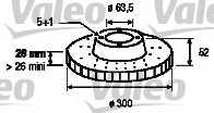 Тормозной диск VALEO 197055 - изображение