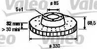 Тормозной диск VALEO 197087 - изображение