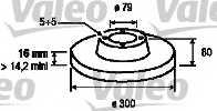 Тормозной диск VALEO 197105 - изображение