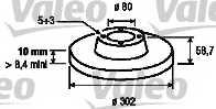 Тормозной диск VALEO 197116 - изображение