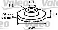 Тормозной диск VALEO 197123 - изображение