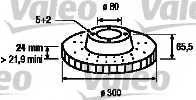 Тормозной диск VALEO 197131 - изображение