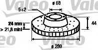 Тормозной диск VALEO 197192 - изображение