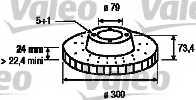 Тормозной диск VALEO 197234 - изображение