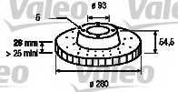 Тормозной диск VALEO 197249 - изображение