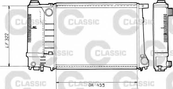 Радиатор охлаждения двигателя VALEO RM004 / 230365 - изображение