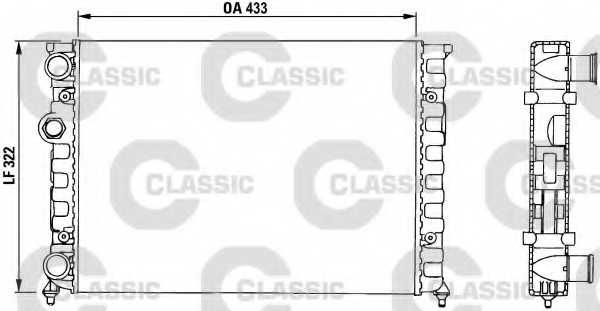 Радиатор охлаждения двигателя VALEO TA650 / 230503 - изображение