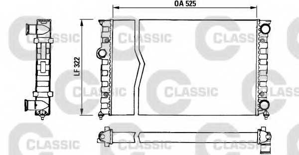 Радиатор охлаждения двигателя VALEO TA651 / 230505 - изображение