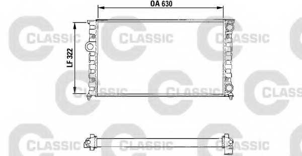 Радиатор охлаждения двигателя VALEO RM1044 / 231025 - изображение