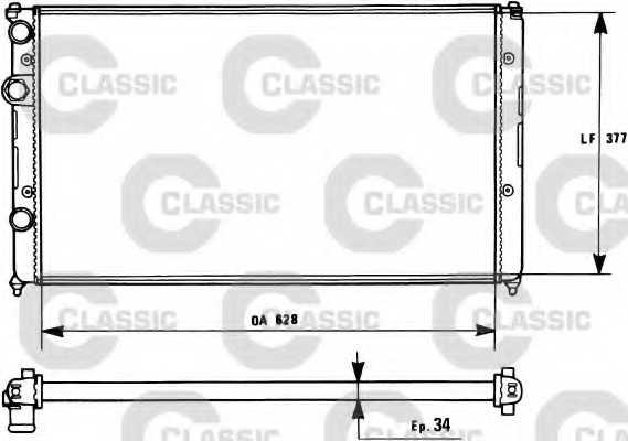 Радиатор охлаждения двигателя VALEO RM1132 / 231267 - изображение