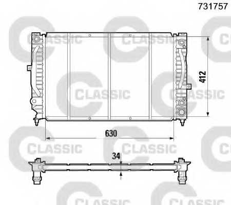 Радиатор охлаждения двигателя VALEO 231757 - изображение