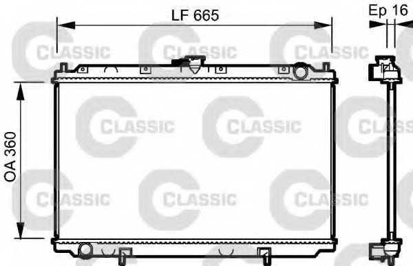 Радиатор охлаждения двигателя VALEO 232528 - изображение
