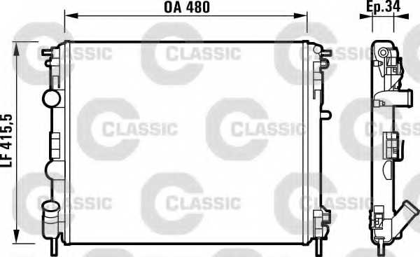 Радиатор охлаждения двигателя VALEO RM1225 / 232721 - изображение