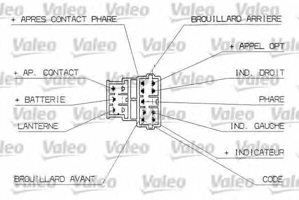 Выключатель на колонке рулевого управления VALEO 251304 - изображение 1