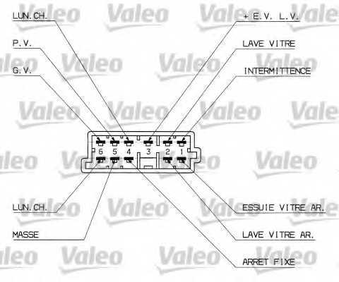 Выключатель на колонке рулевого управления VALEO 251307 - изображение 1