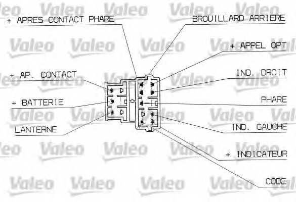 Выключатель на колонке рулевого управления VALEO 251310 - изображение 1