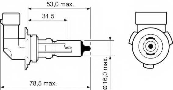 VALEO 032015 - лампа HB4 12V 51W p22d Essential - изображение 1