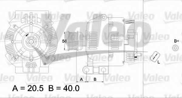 Генератор 95А для DACIA LOGAN, LOGAN EXPRESS, LOGAN MCV, SANDERO / RENAULT CLIO, ESPACE, GRAND SCENIC, KANGOO, KANGOO Express, LAGUNA, LOGAN, LOGAN EXPRESS, MEGANE, MEGANE Scenic, SANDERO/STEPWAY, SCENIC, THALIA <b>VALEO 437311 / 2542420</b> - изображени