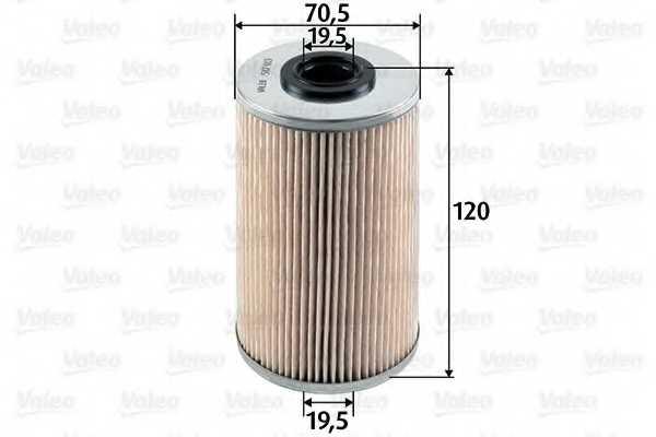 Фильтр топливный VALEO 587913 - изображение