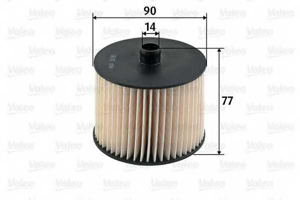 Фильтр топливный VALEO 587915 - изображение