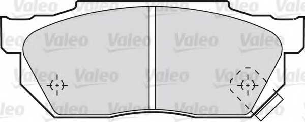 Колодки тормозные дисковые VALEO 20959 / 598047 - изображение