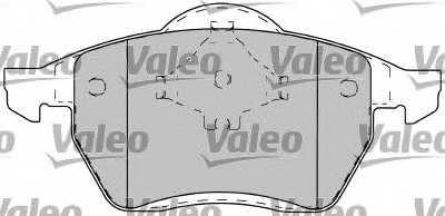 Колодки тормозные дисковые VALEO 20678 / 598049 - изображение 1