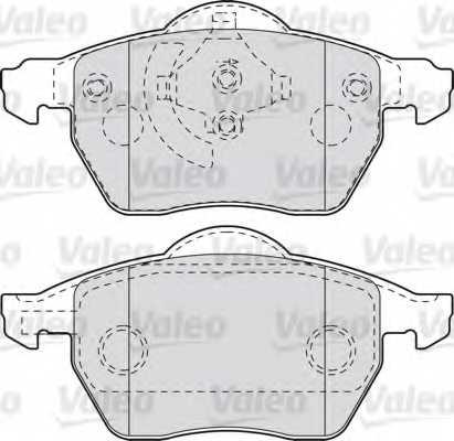 Колодки тормозные дисковые передний для AUDI 100(4A,C4), A6(4A,C4) <b>VALEO 598049 / 20678</b> - изображение