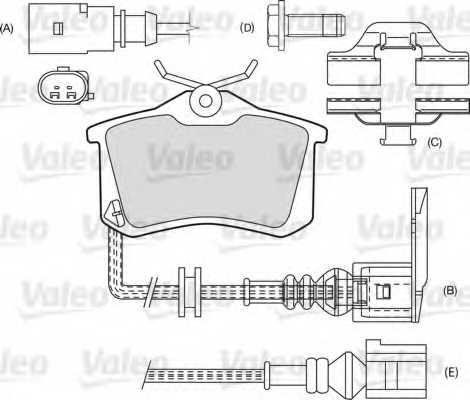 Колодки тормозные дисковые VALEO 20960 / 598180 - изображение