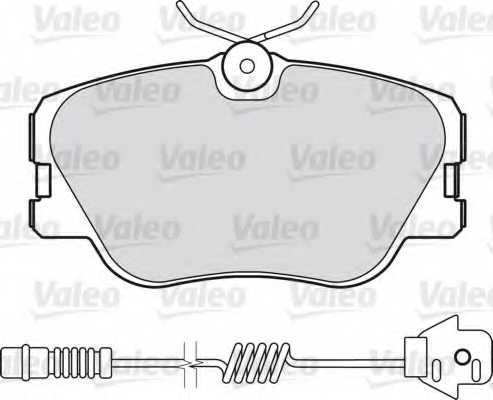 Колодки тормозные дисковые VALEO 21028 / 598315 - изображение