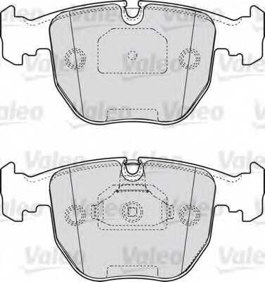 Колодки тормозные дисковые VALEO 598412 - изображение