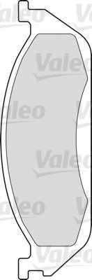 Колодки тормозные дисковые VALEO 23193 / 598442 - изображение