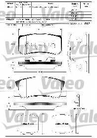 Колодки тормозные дисковые VALEO 23582 / 598520 - изображение