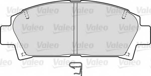 Колодки тормозные дисковые передний для TOYOTA AVENSIS(#ACM2#,#CLM2#) <b>VALEO 598541</b> - изображение