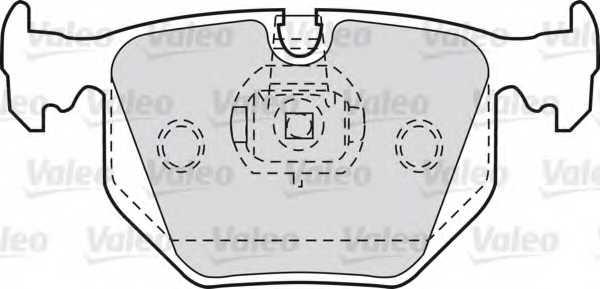 Колодки тормозные дисковые задний для BMW 3(E46), 5(E39), 7(E38), X3(E83), X5(E53), Z4(E85,E86), Z8(E52) / LAND ROVER RANGE ROVER(LM) <b>VALEO 598580</b> - изображение