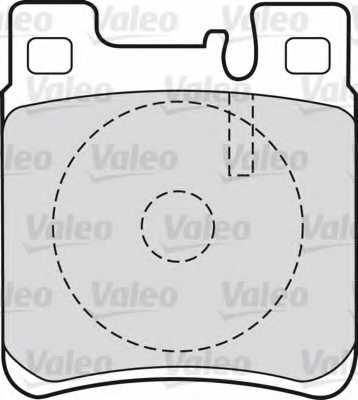 Колодки тормозные дисковые задний для MERCEDES , C, CLK, E, S, SL, SLK <b>VALEO 598617</b> - изображение