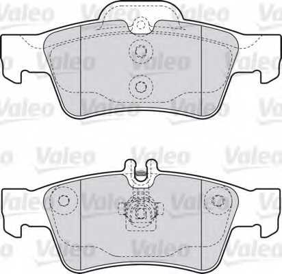 Колодки тормозные дисковые VALEO 598637 - изображение 1