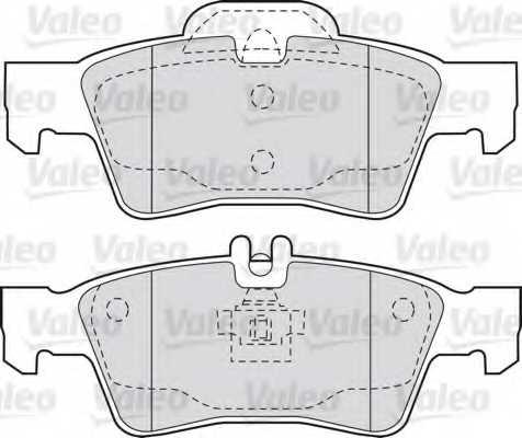 Колодки тормозные дисковые VALEO 598637 - изображение