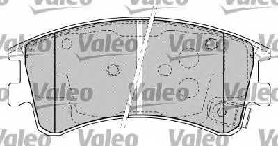 Колодки тормозные дисковые VALEO 598648 - изображение 1