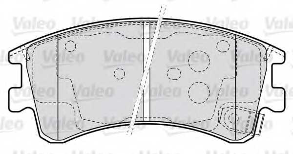 Колодки тормозные дисковые VALEO 598648 - изображение