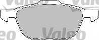 Колодки тормозные дисковые передний для FORD C-MAX, ECOSPORT, FOCUS, KUGA, TOURNEO CONNECT, TRANSIT CONNECT / MAZDA 3, 5, PREMACY / VOLVO C30, C70, S40, V40, V50 <b>VALEO 598649</b> - изображение