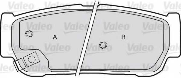 Колодки тормозные дисковые передний для KIA SORENTO(JC) <b>VALEO 598654</b> - изображение 1