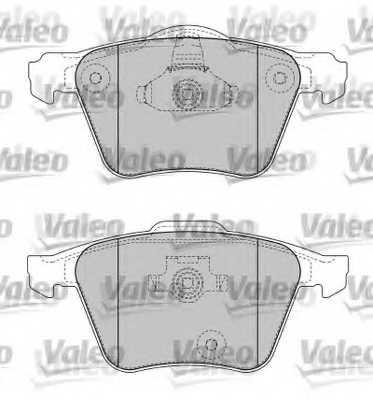 Колодки тормозные дисковые VALEO 598657 - изображение 1