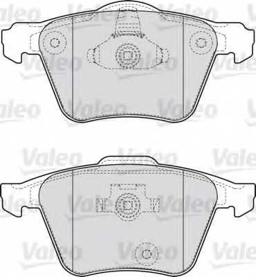 Колодки тормозные дисковые VALEO 598657 - изображение